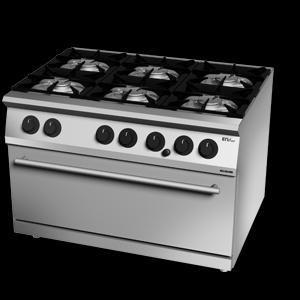 Giga EM Line 7 EM76CGM Gas boiling unit with MAXI static gas oven