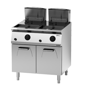 Giga EM Line 7 EM74FRG Electric fryer on cabinet with door