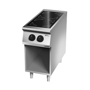 Giga EM Line 7 EM72PCV Ceramic-glass boiling unit on open cabinet
