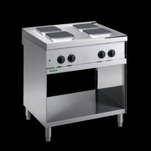Giga Emme 7 M74PQ Electric solid top on open cabinet