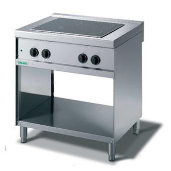 Giga Emme 7 M74V Ceramic-glass boiling unit on open cabinet
