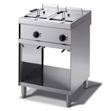 Giga Emme 7 M7F6E Electric fryer on open cabinet