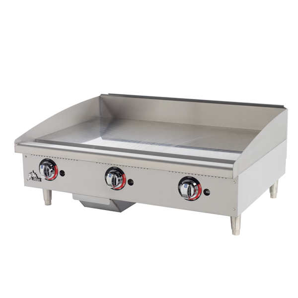 "Star Star-Max 36"" Thermostatic , 1"" Plate Griddle"