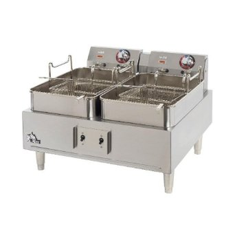 Star 30lb Twin Pot, Single Basket Fryer