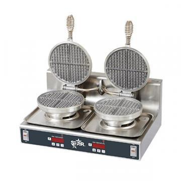 "Star 7"" Diameter Traditional Double Waffle Baker"
