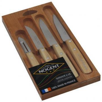 Nogent Gift box 4 Kitchen Knives Classic Natural wood
