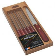 Nogent Gift box 6 Table Knives Classic Stained wood