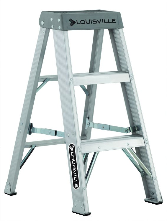 Louisville Type IA 3 ft Aluminum Standard Step Ladder