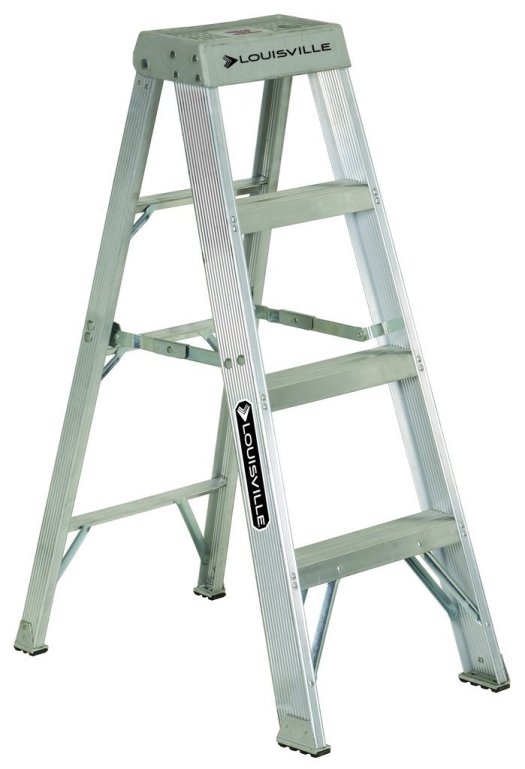 Louisville Type IA 4 ft Aluminum Standard Step Ladder