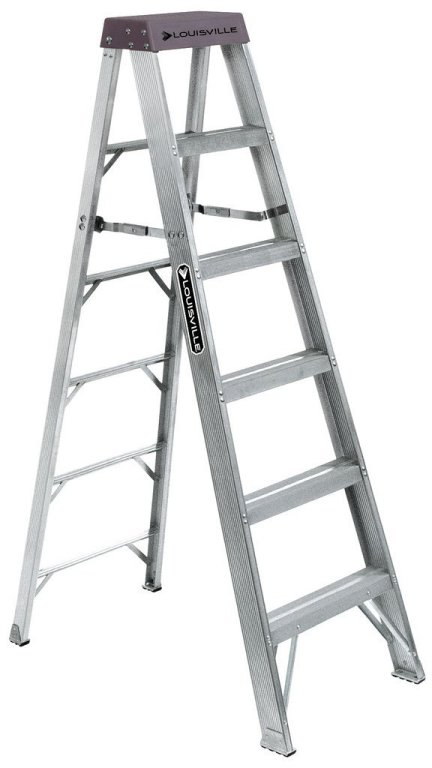 Louisville Type IA 6 ft Aluminum Standard Step Ladder