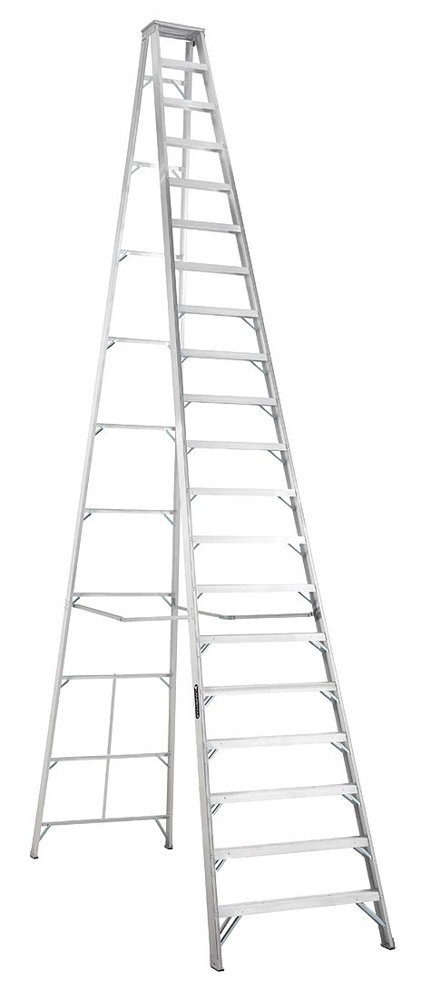 Louisville Type IA 20 ft Aluminum Standard Step Ladder