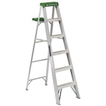 Louisville Type II 6 ft Aluminum Standard Step Ladder