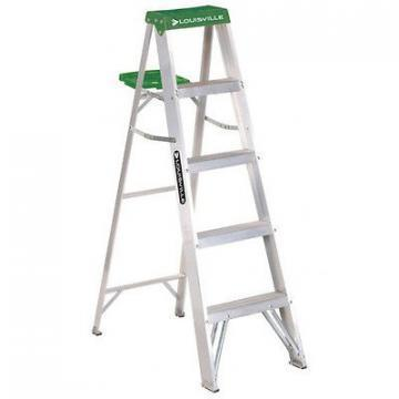 Louisville Type II 5 ft Aluminum Standard Step Ladder