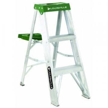 Louisville Type II 3 ft Aluminum Standard Step Ladder