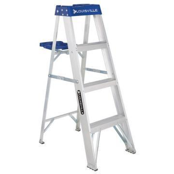 Louisville Type I 4 ft Aluminum Standard Step Ladder