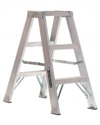 Louisville Type IA 3 ft Aluminum Twin Front Step Ladder