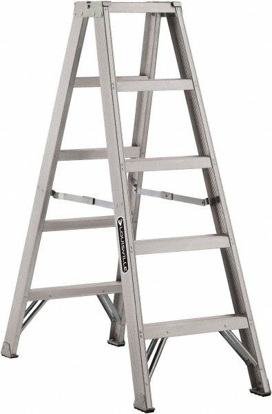Louisville Type IA 5 ft Aluminum Twin Front Step Ladder