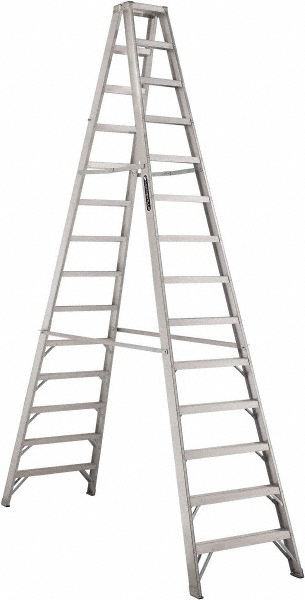 Louisville Type IA 14 ft Aluminum Twin Front Step Ladder