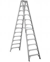 Louisville Type IAA 12 ft Aluminum Twin Front Step Ladder