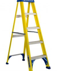 Louisville Type I 5 ft Fiberglass Standard Step Ladder