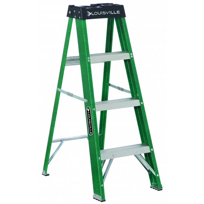 Louisville Type II 4 ft Fiberglass Standard Step Ladder