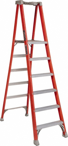 Louisville Type I 6 ft Fiberglass Twin Front Step Ladder