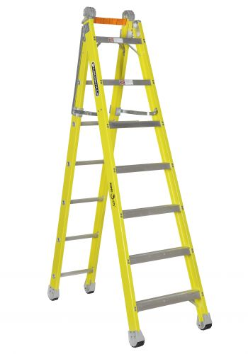Louisville Type IAA 7 ft Fiberglass Step to Straight Multipurpose Ladder