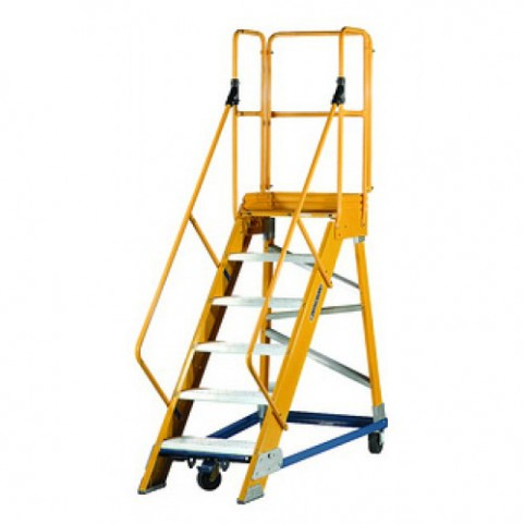 Louisville Type IA 6 ft Fiberglass Platform Warehouse Ladder