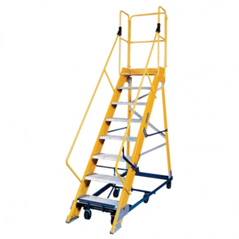 Louisville Type IA 8 ft Fiberglass Platform Warehouse Ladder