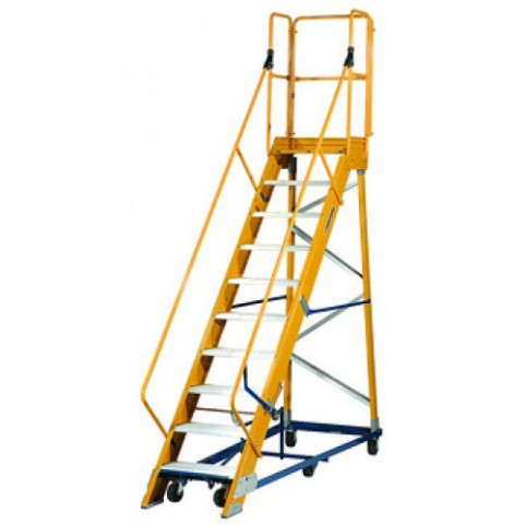 Louisville Type IA 10 ft Fiberglass Platform Warehouse Ladder