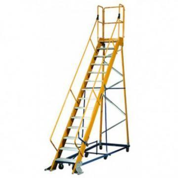Louisville Type IA 14 ft Fiberglass Platform Warehouse Ladder