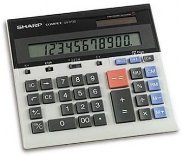 Sharp QS-2130 Compact Desktop Calculator