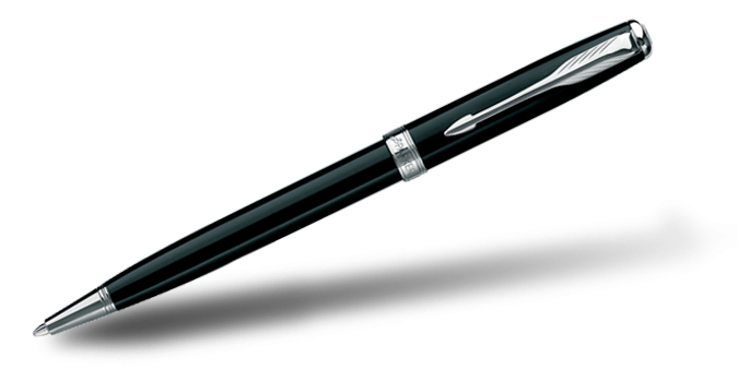 Parker Sonnet Laque Black CT Ball Pen