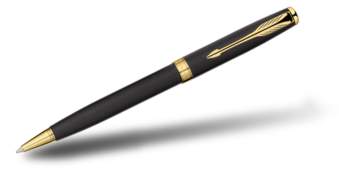 Parker Sonnet Matte Black GT Ball Pen
