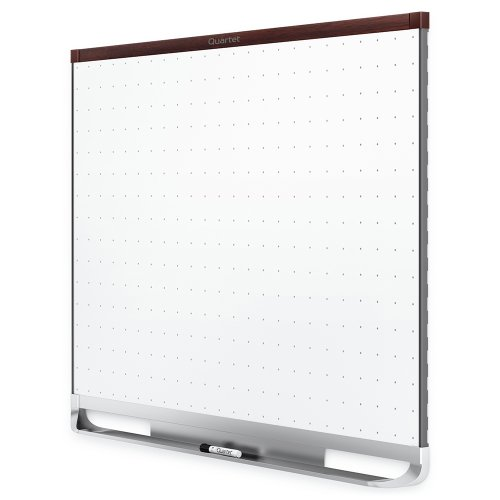 Quartet Prestige 2 Total Erase Magnetic Whiteboard, Mahogany Finish Frame