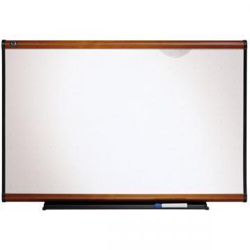 Quartet Prestige Total Erase Board, Light Cherry Finish Frame
