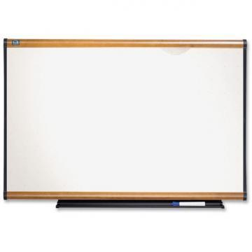 Quartet Prestige Total Erase Board, Maple Finish Frame