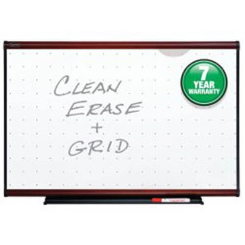 Quartet Prestige Total Erase Board, Mahogany Finish Frame