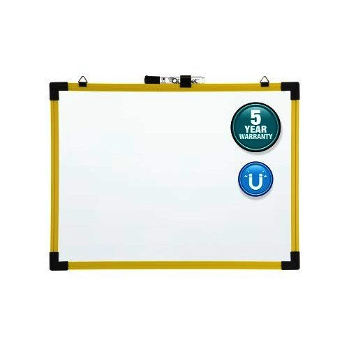 Quartet Industrial Magnetic Whiteboard, Yellow Frame
