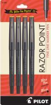 Pilot Razor Point Fine Line Marker Pen, 4 pack
