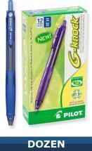 Pilot Recycled G-Knock Gel Ink Retractable pen, Dozen Box