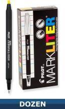 Pilot Markliter Stick pen and Highlighter, Dozen Box