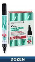 Pilot Super Color Permanent markers, Xylene Freem Dozen Box