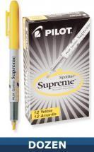 Pilot Spotliter Supreme Highlighter, Yellow, Dozen Box