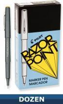 Pilot Razor Point Marker pen, Black, Dozen Box