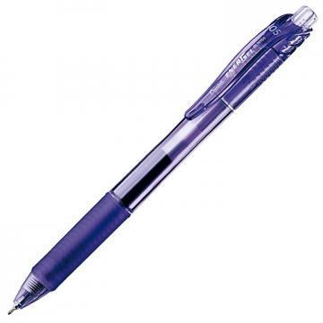 Pentel EnerGel-X Retractable Roller Gel Pen, .5mm, Violet