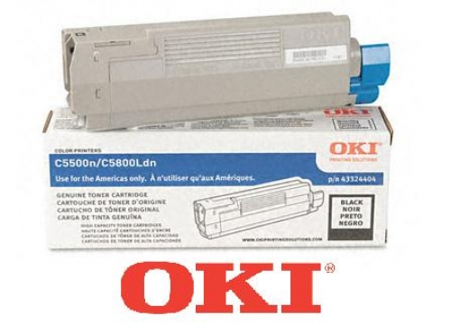 OKI High-Yield Toner (Type C8), 5000 Page-Yield, Black