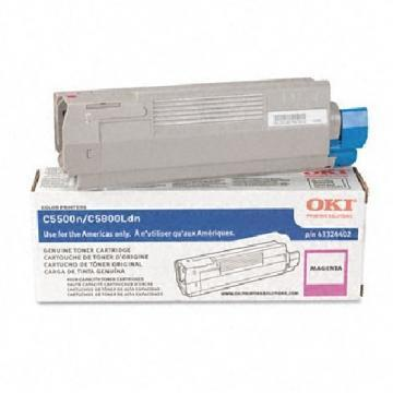 OKI High-Yield Toner (Type C8), 5000 Page-Yield, Magenta