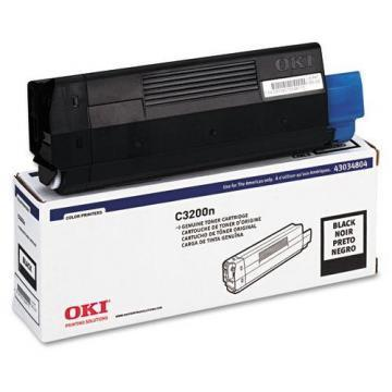 OKI Toner (Type C6), 1500 Page-Yield, Black