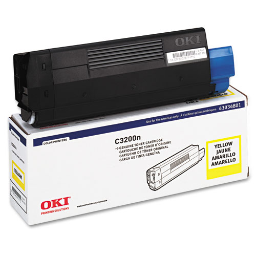 OKI Toner (Type C6), 1500 Page-Yield, Yellow